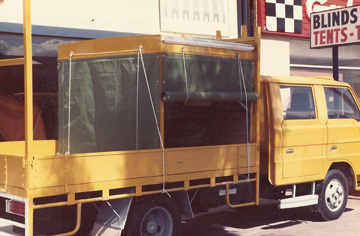 Truck Canopy by G.C. Sutherland canvas Goods