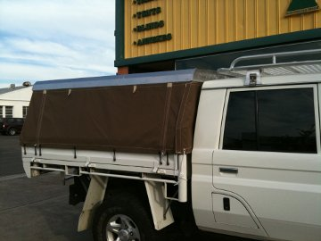 Ute Tray Canopy by G.C. Sutherland canvas Goods